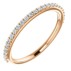 14K Rose Gold Wedding Band set with Environmentally Friendly Lab-grown Diamonds