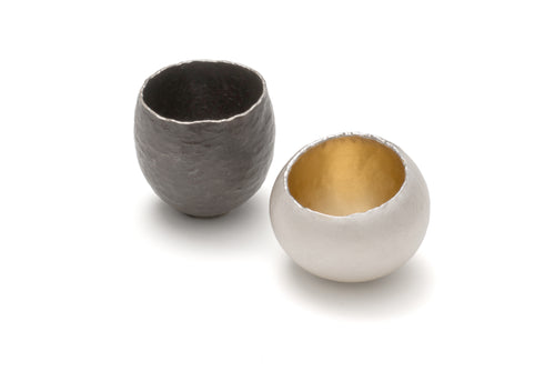 Oxidized Silver Gum Nut Vessel