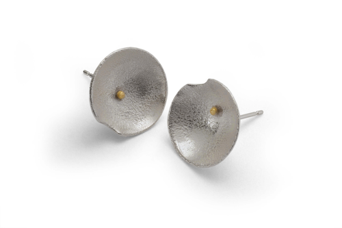 18k Gold Daisy Stud Earrings - Lireille