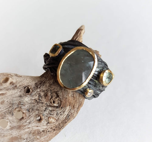 Oxidised Wrap Ring
