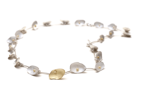 18k Gold Petal Honesty Bracelet/Necklace - Lireille