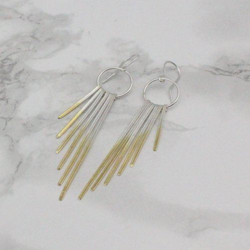 Shimmer Dainty Cascade Earrings