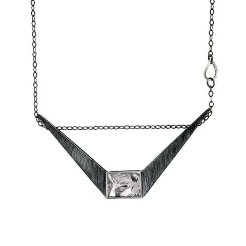 Soaring Lights Space Ship Necklace