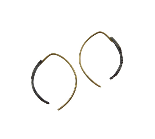 Tiny Talon Gold Hoop Earrings