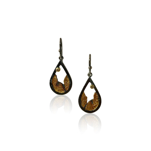 Terra Droplet Earring Oxidized