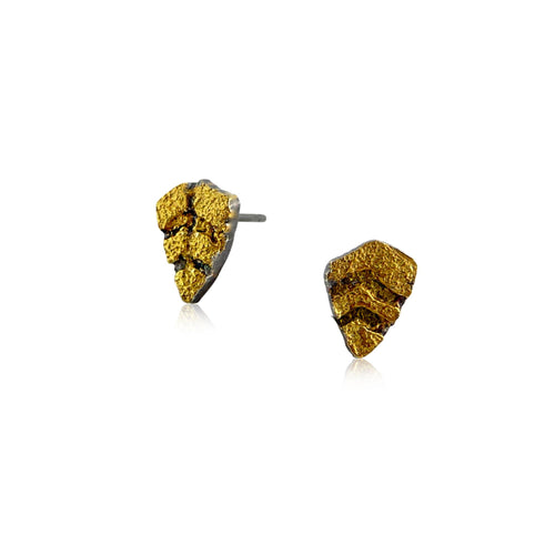 Tiny Spike Gold Stud Earrings