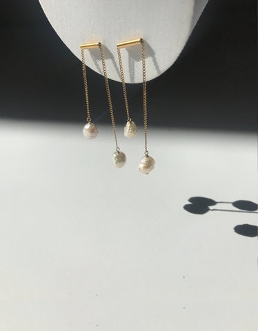 Maple Seed Drop Earrings