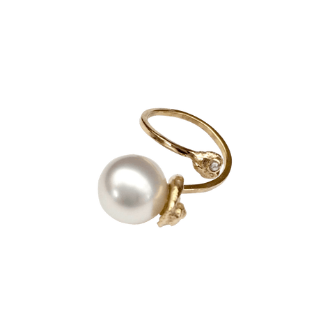 Planet Salt Water Tahitian Pearl Spinning Ring