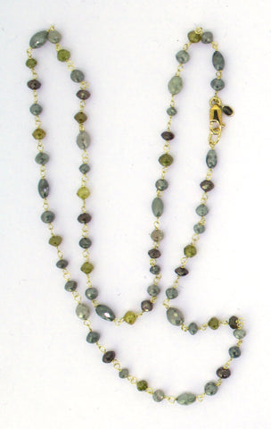 Stellar Necklace with Keshi Pearl on Nylon String