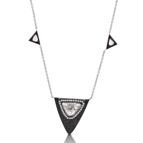 18k White Gold Diamond Necklace - Lireille