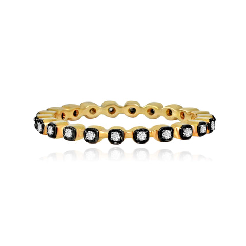 14k Gold Diamond Contour Band