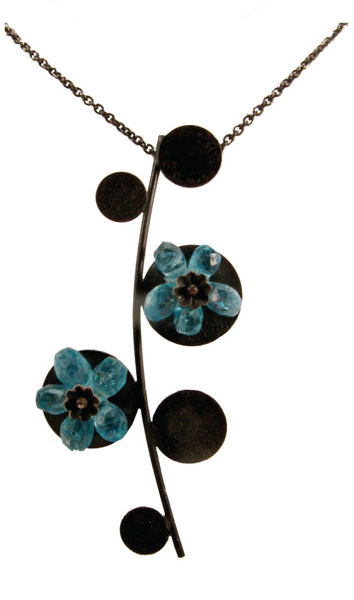 Blue Flowers Pendant
