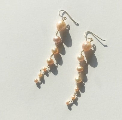 Cascade Freshwater Baroque and Potato Pearls Earrings