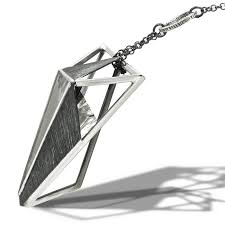 Large Crystal Triangle Pendant