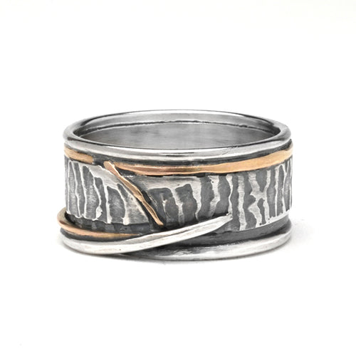 Fossil Silver and Gold Wedding Band