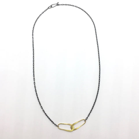 Medium Length Forged Fine Silver Chain
