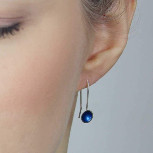 Medium Drop Enamel Earring