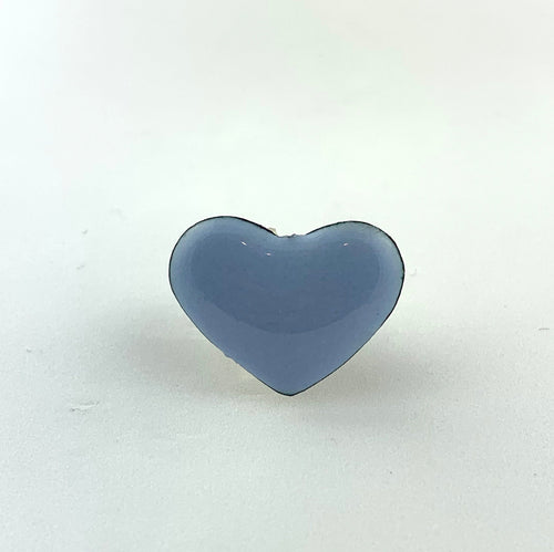 Blue (Light) Enamel Fearless Heart Pin or Brooch
