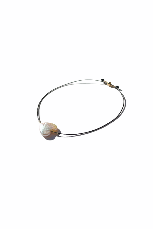 Freshwater Heart Pearl Bracelet with Nylon String