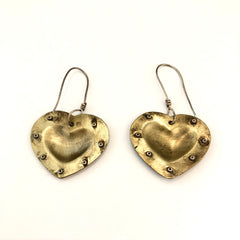 Bronze Fearless Heart Earrings