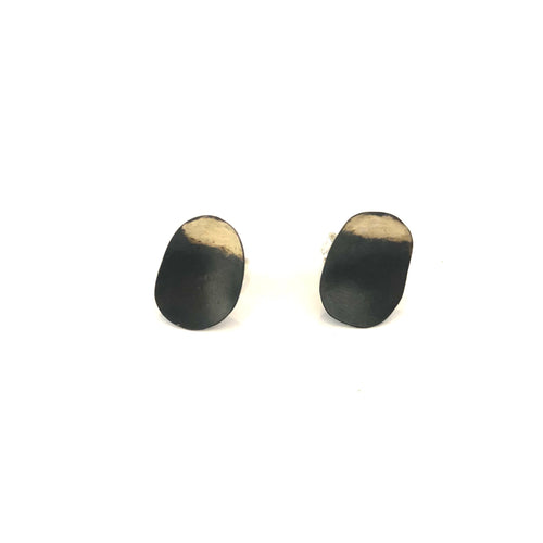 New Stud Oval Earrings