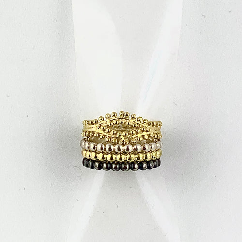 Sterling Silver Stacking Beaded Ring