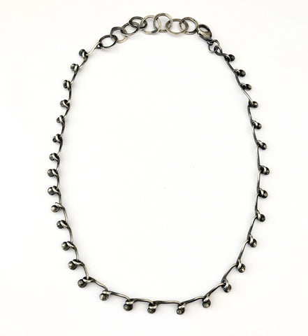 Heavy Steel Chain Necklace with 14k gold link highlight