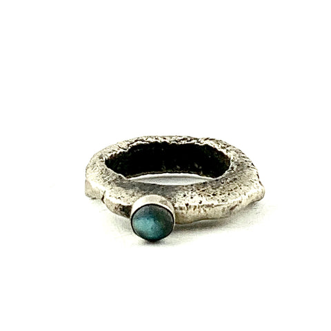 Oxidized Acorn Cup wrap bangle