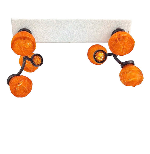 Orange Globo Earrings