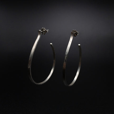 Hammered Bend Post  Earrings