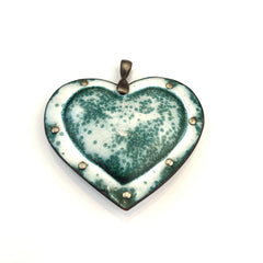 Fearless Heart Medium Enamel Pendant in various color and pattern