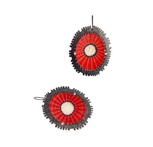 Red Volcan Earrings
