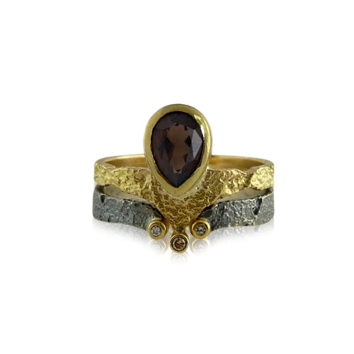Droplet Solitaire Gold Ring - Lireille