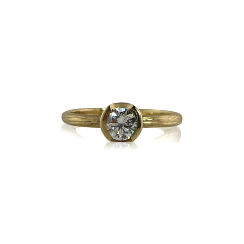 Sequoia Solitaire Gold Diamond Engagement Ring