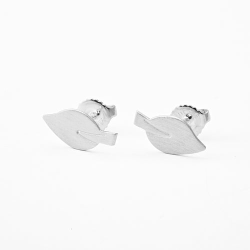 Elegant Leaf Shape Earrings with Silver Finish