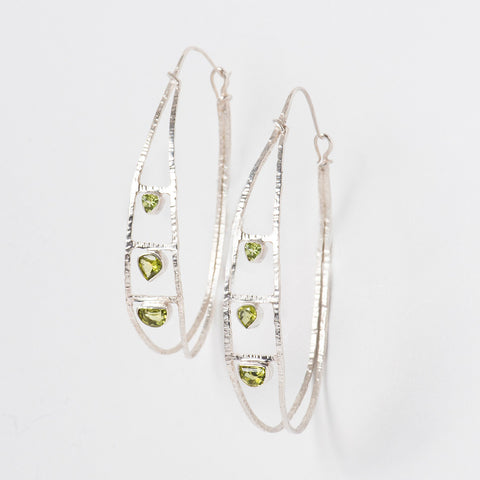 Green Triangle Hoops