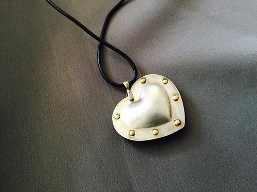 Fearless Heart pendant, Sterling Silver
