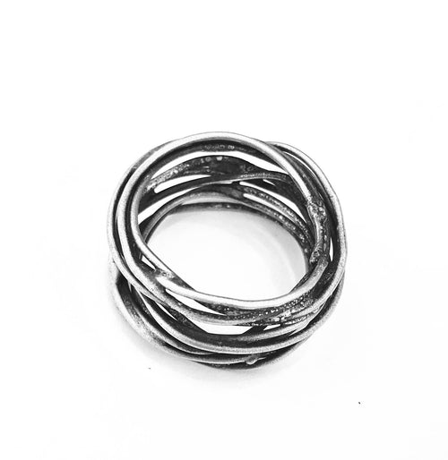 Branch Ring in silver wire