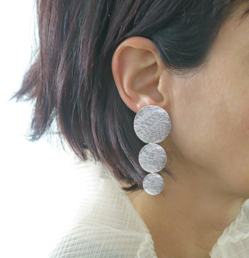 3 disc statement earrings