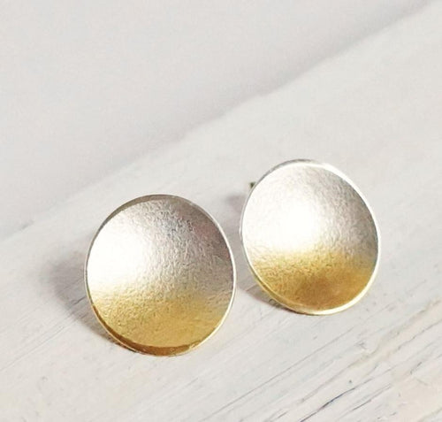 Electra Large Gold Stud Earrings - Lireille