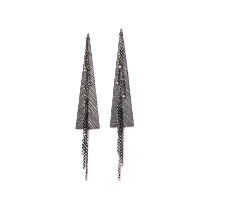 Chains and Triangles Earrings