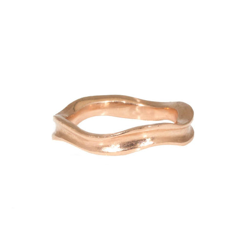 Rose Gold Wavy Wedding Band