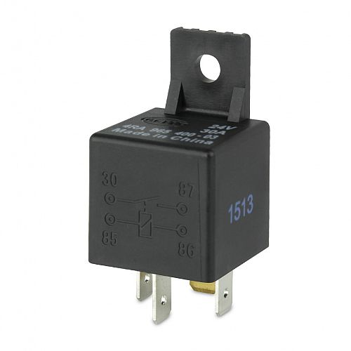 24V 4 Pin Normally Open Mini Relay Hella - 30A PART NO: 3079