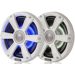 "Fusion -  10"" 450 WATT Sports White Marine Subwoofer With LEDs - SG-SL10SPW"