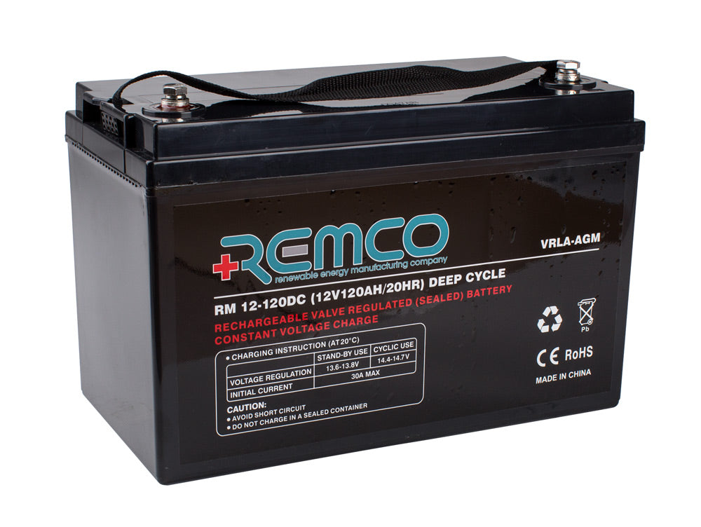 RM12-120DC Remco AGM Deep Cycle Battery (Buyer Must Pick Up or Call to Discuss Shipping )