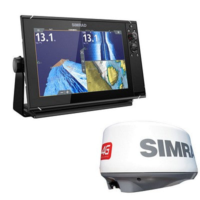 "Simrad - NSS evo3 9"" display with GPS, sounder & Wi-Fi Bundle, Includes Broadband 4G™ radar"