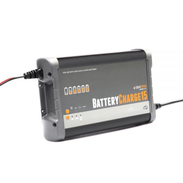 BMPRO - BATTERYCHARGE15 - 12V, Lead Acid / LiFEPO4 Charger