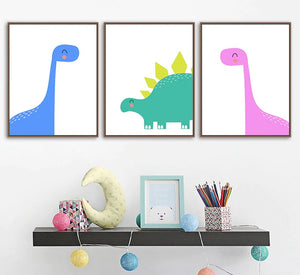Nursery Wall Art canvas dinosaurs Poster