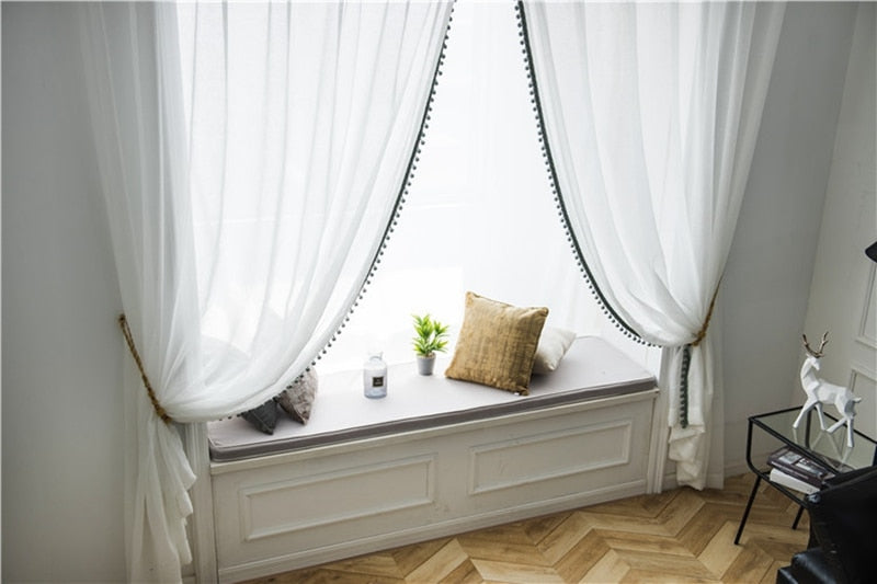 Archi Modern Tassel Curtains for Living Room - Farhouse Home Deocr ideas and Living Room Curtains