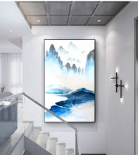 Abstract landscape Blue Canvas wall art posters